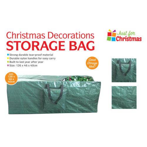 Large Xmas Tree Storage Bag For Christmas Tree Decoration Zip Up Bag 125cm UK