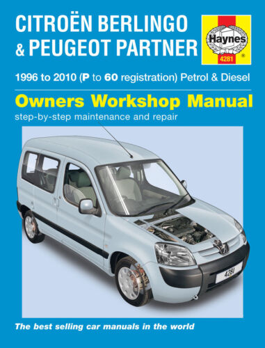 H4281 Citroen Berlingo /& Peugeot Partner Haynes Repair Manual 1996 to 2010