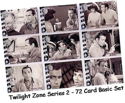 Two Twilight Zone Series 2 The Next Dimension 72 Card Basic//Base Set #73-144