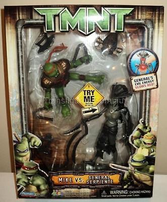 Rare 2007 Playmates 2 Pack 10 Figures Tmnt Mike V Serpiente Ninja
