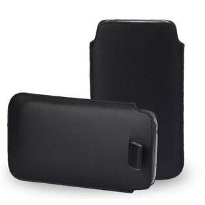 Noir Cuir Slim Tirer Étiquette Housse De Téléphone Housse/étui Pour Xiaomi Redmi Note 7-afficher Le Titre D'origine