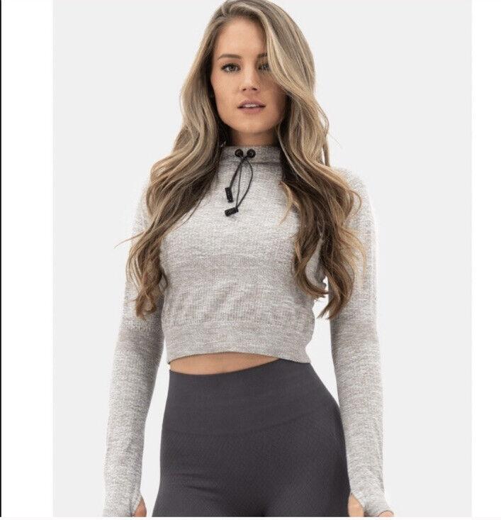 Balance Athletica Crop Grey Hoodie Athletic Pullover Small