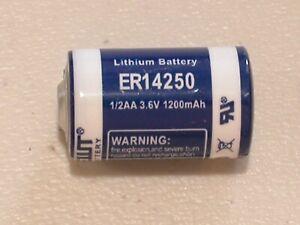 2-NEW-ER-14250-LS14250-ER3S-3-6v-1-2AA-LITHIUM-BATTERY-1200mAh-EXPIRE-2029