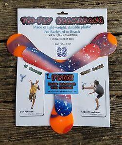 Tri-Fly Boomerang: as seen on Dude Perfect- Includes bonus indoor boomerang