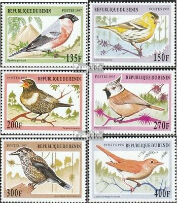 Never Hinged 1997 Songbirds Stamps Benin 957-962 Unmounted Mint