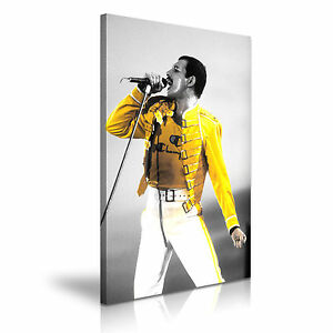 MUSIC-amp-DANCE-Freddie-Mercury-Queen-Canvas-Framed-Print-Wall-Art-More-Size
