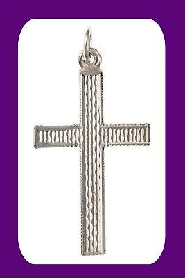Sapphire Celtic Cross Pendant Sterling Silver 925 Hallmark All Chain Lengths