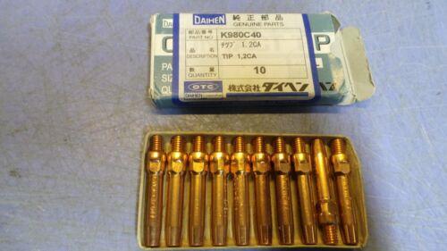 3//64 1.2CA 10 Daihen Welding Contact Tips K980C40 .045 mm New in Package