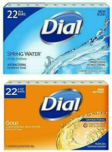 22-Soap-Bars-Antibacterial-Dial-Gold-or-Spring-Water-Deodorant-EXPEDITED-FREE