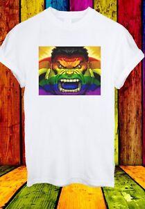HULK-SUPEREROE-GAY-LGBT-BANDIERA-I-VENDICATORI-Uomini-Donne-Unisex-T-shirt-2753