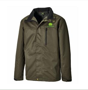 Genuine-John-Deere-Dark-Green-Outdoor-Jacket-Mens-Women-Clothing-Christmas