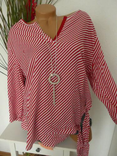 945 Aniston Bluse Tunika Damen Shirt weiß rot gestreift