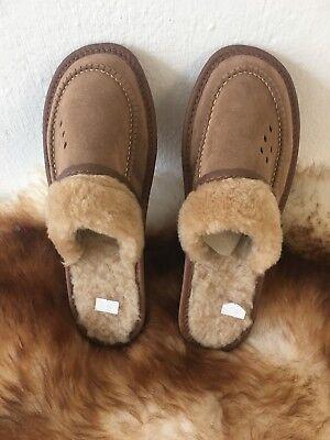 Warme Damenhausschuhe Pantoffeln Absatzschuh Schafwolle Neu Gr.38