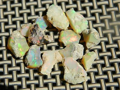 Beautiful Welo Opal specimen lot, Ethiopia, 10.0 grams, great fire 15 pieces