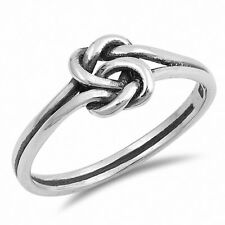 Tangled Knot Infinity Crossover Ring Solid Sterling Silver Crystal Russian CZ