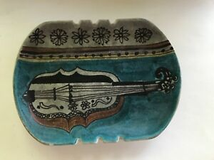 Raymor-Italy-Pottery-Ashtray-Modernistic-MCM-R-2122