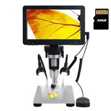 Us 7lcd 1080p Digital Microscope Hd Usb Microscope 1200x Magnification Recorder