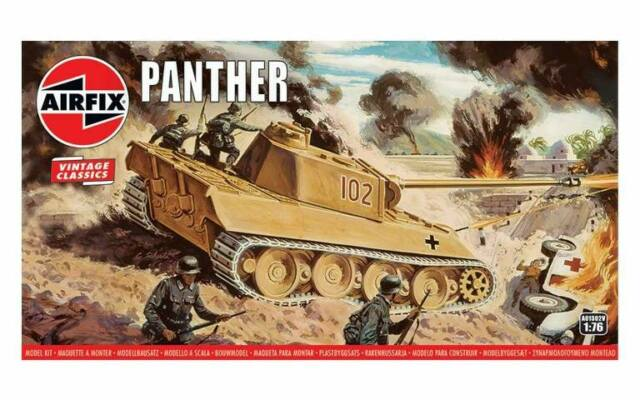 AIRFIX 1:76 Scale WWII German Panther TANK MODEL KIT - A01302V