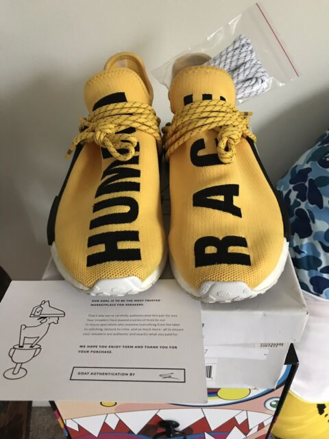 sale retailer 36e27 5f882 adidas Pharrell PW Human Race NMD Yellow BB0619 Black OG Boost