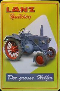 Lanz-Bulldog-034-Der-Grosse-Helfer-034-Letrero-de-metal-Tractor-Tractor
