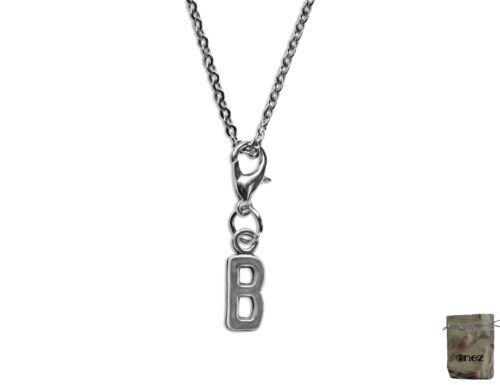 Enez Leder-Halskette 40cm Charm Anhänger Buchstabe C 2,0cm L3046 75cm
