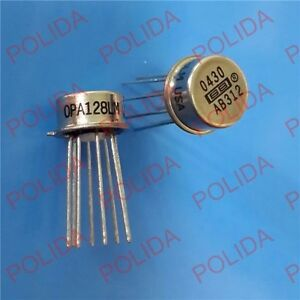 1PCS OP AMP IC BURR-BROWN//BB//TI TO-99 CAN-8 OPA128JM 100/% Genuine and New
