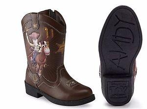 Disney Toy Story Woody Boys Light Up Cowboy Boots Size