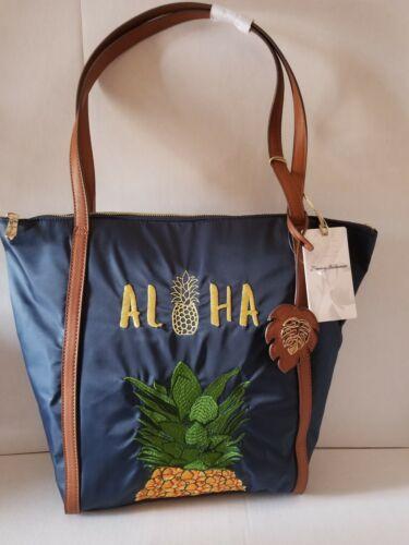 Tommy Bahama ALOHA Embroidered Tote Pineapple