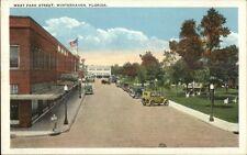 Winterhaven FL West Park Street c1920 Postcard