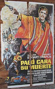 Used-Schild-aus-Kino-Lieferbar-Gesicht-Ihren-Tod-Vintage-Movie-Film-Poster