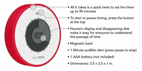 elektronischer Timer 90 Minuten Zeitablauf Visualisierung Time Timer TWIST