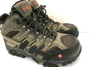 5049a62ffa2 Details about Merrell Moab 2 Vent Mid Waterproof Comp Toe Work Boot Boulder  Men's 8.5 Wide