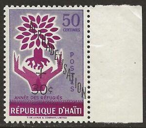 Haiti-1960-WRY-Alphabetisation-B17-Variety-SHIFTED-OVPT-F-VF-NH
