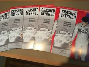 AUTOGRAPHED-COPY-Crashed-and-Byrned-The-Greatest-Racing-Driver-You-Never-Saw