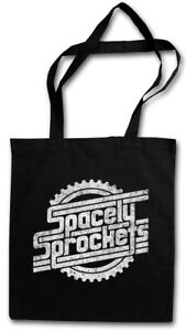 SPACELY'S SPACE SPROCKETS INC. LOGO STOFFTASCHE Comic Symbol Firmenlogo