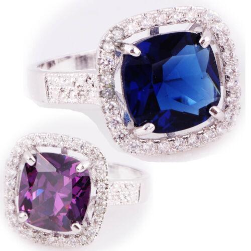5 ct taille 6-9 Argent 925 Glod Sapphire tanzanite topaze Gemstone mariée Ring 12147