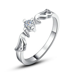 925-Silver-Sterling-Silver-Wings-Women-039-s-Ring-High-Quality