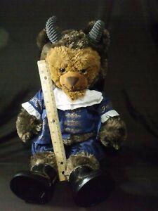 Build-A-Bear-BAB-Beauty-amp-The-Beast-Plush-Beast-W-Blue-Ballroom-Outfit-Toy-19-034