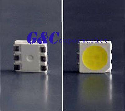 100pcs SMD SMT 5050 12-15LM Super bright WHITE LED lamp Bulb GOOD QUALITY