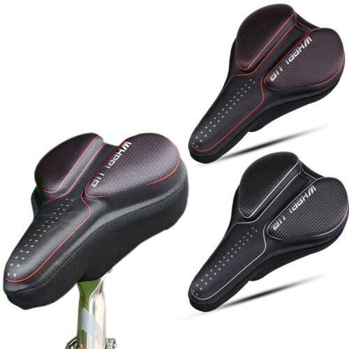Silicone Gel Bicycle Bike Saddle Cover Cushion Shock Absorption Thicken Seat Pad