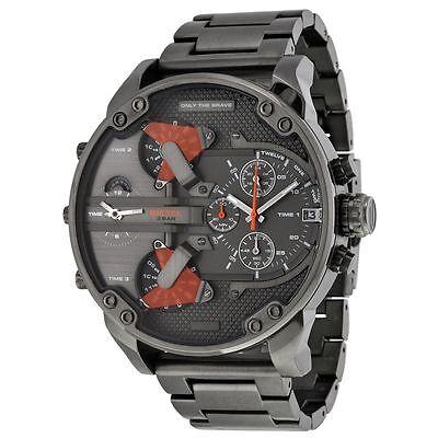 Diesel Mens Grey Dial Analog Quartz Watch with Stainless Steel Strap DZ7315