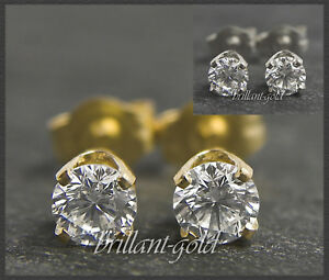 Brillant-Diamant-Damen-Ohrstecker-585-Gold-0-15-0-45ct-Top-Wesselton-VS-Si