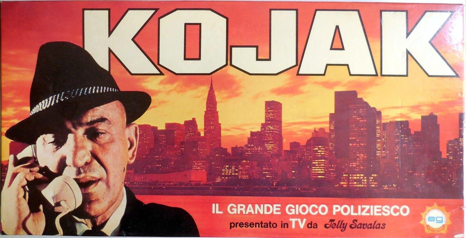 VINTAGE GIOCO KOJAK GRANDE GIOCO POLIZIESCO SERIE TV 1976 EG JELLY SAVALAS