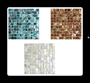 Das Bild Wird Geladen Perlmuttmosaik Mosaik Weiss Braun Grau Blau Fliesen  Fliesenspiegel