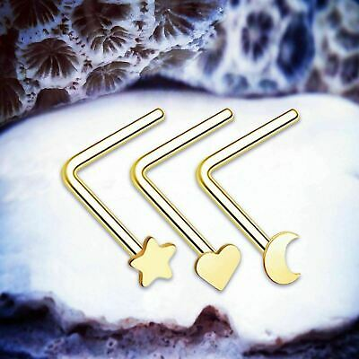 Witchcraft Gold Nose Studs Star Nose Stud 22g Nose Piercing Cute