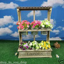 Erba di giorno del padre di Fioriera in legno parete Display 6 vasi giardino fiore biancheria da letto Decor