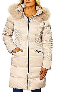 1 Madison Women's Hooded  Down Fill Coat  Bone