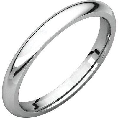 Mens 14K Yellow Gold 2.5mm Half Round Wedding Band Ring