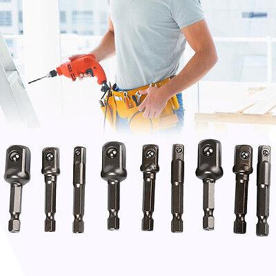 """3Pcs Socket Bit Adapter Drill Power Extension Bar Hex Shank 1/4"""" 3/8"""" 1/2"""" Set E"""