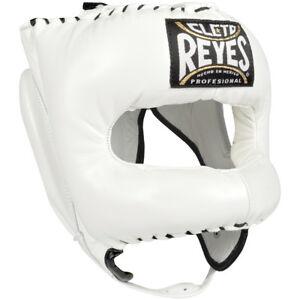 Courageux Cleto Reyes Traditionnel En Cuir Boxe Casque Avec Nylon Face Bar-blanc-afficher Le Titre D'origine